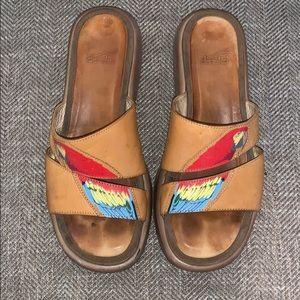 EUC Dansko parrot Sandals Size 38.